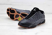 Мужские баскетбольные кроссовки Nike Air Jordan 13 Low Quai 54 Black Dark Grey White Chrome Hot. ТОП Реплика ААА класса., фото 3