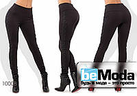 Привлекательные высококачественные женские леггинсы с высокой талией украшены кружевом по бокам черные