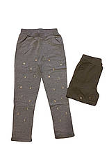Штаны спортивные для девочек оптом, F&D, размеры 134/140-158/164  арт. FD 7617