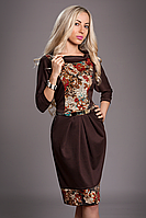 Платье женское мод 442-2 ,размер 50 коричневое