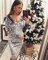 """Модное и элегантное платье из бархата """"Ариана"""""""
