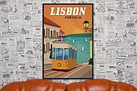 Лисабон. Жизнь - это путешествие. 60х40 см. Постер на холсте.