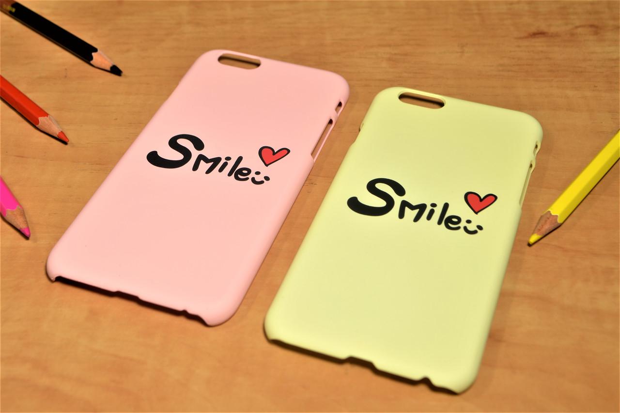"Пластиковый чехол ""Smile"" для iPhone 6 Plus / 6S Plus (Желтый)"