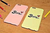 "Пластиковый чехол ""Smile"" для iPhone 6 Plus / 6S Plus (Желтый), фото 1"
