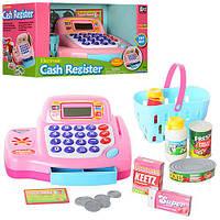 Кассовый аппарат 30262 (12шт) калькулятор, корзина,продукты,деньги,звук, на бат-ке,в кор-ке,31-18-17см