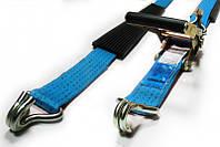 Ремень для крепления автомобиля трехточечный с резиновой накладкой 2,8 м, 5 т