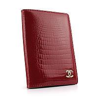 Обложка для паспорта кожаная женская красная Chanel 9012