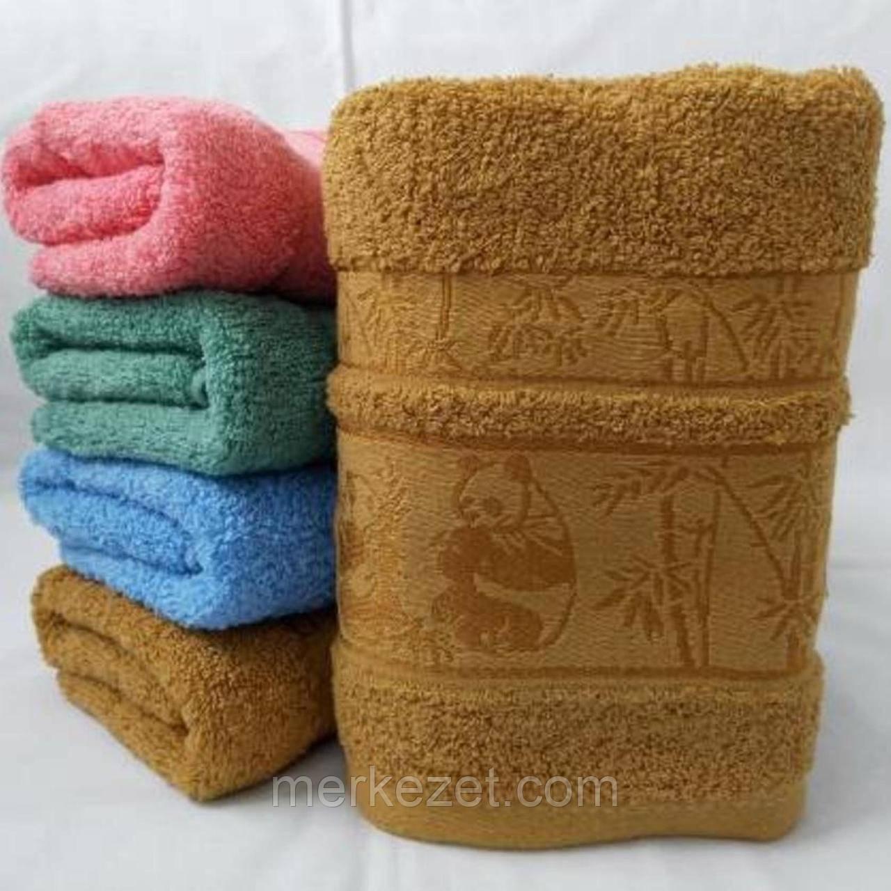 """Махровые полотенца. """"Пандочка"""". Полотенце банное"""