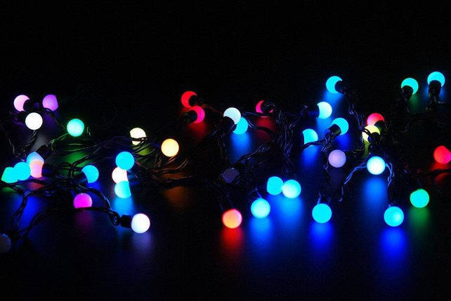 Новогодняя гирлянда на 100 лампочек , маленький шарик , разноцветная, фото 2
