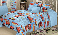 Детское постельное белье полуторное бязь голд тачки