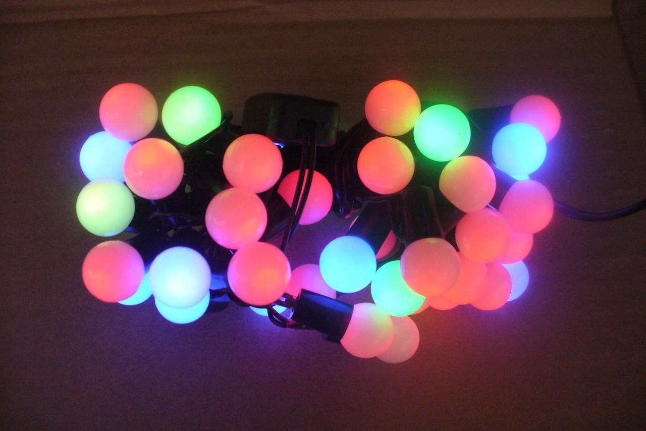 Новогодняя гирлянда на 50 лампочек , шарик , разноцветная