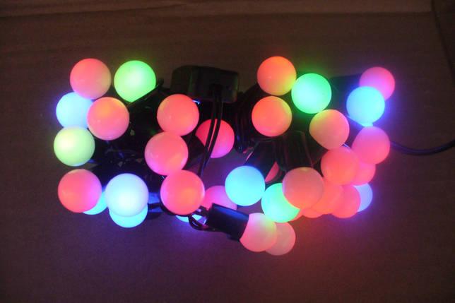Новогодняя гирлянда на 50 лампочек , шарик , разноцветная, фото 2