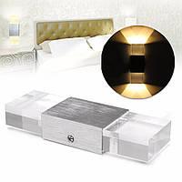 2w современный LED стена света вверх вниз закрытый светильник спальня лампа светильник теплый белый