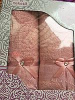 Комплект полотенец (банное, лицевое)