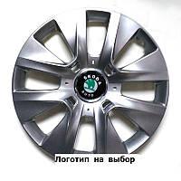 Колпаки гибкие R15 SKS-334 Peugeot с логотипом разных авто