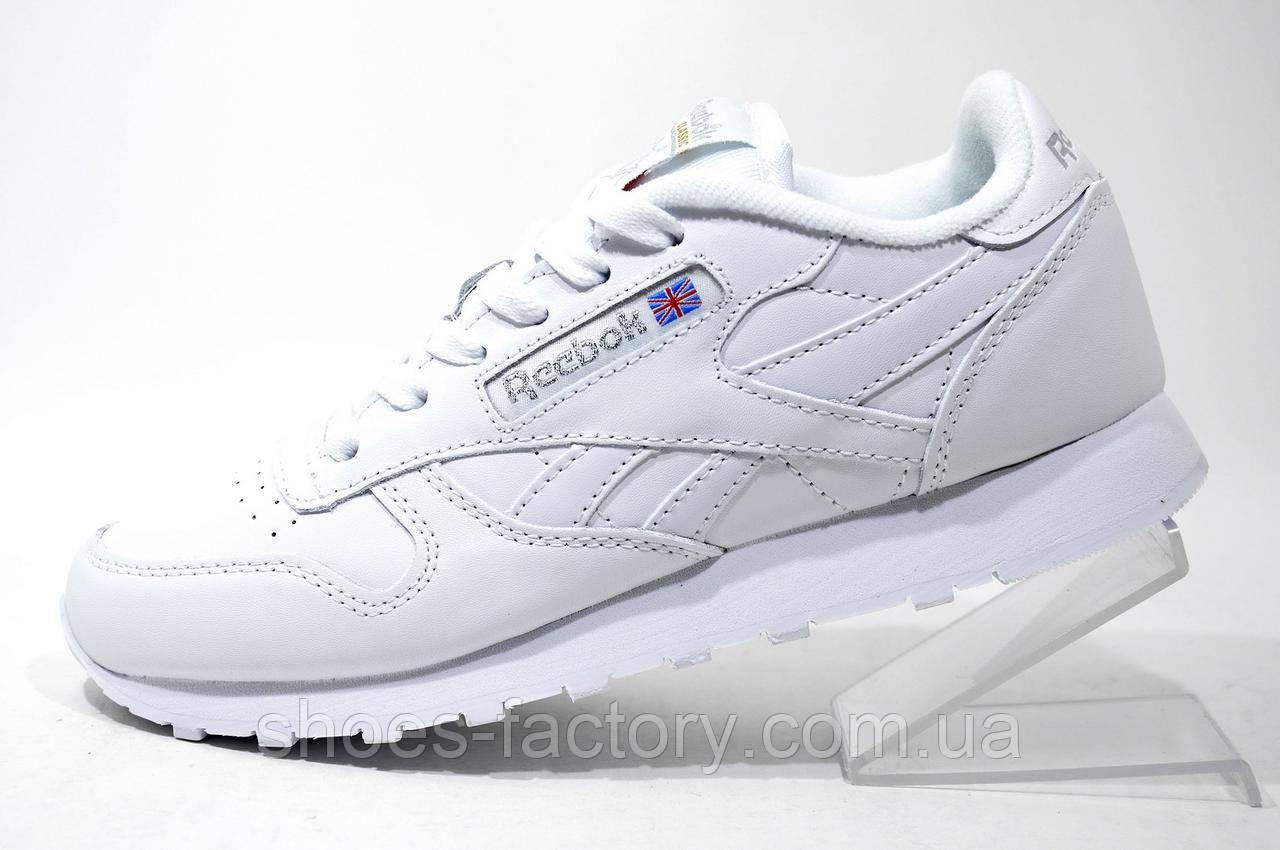 3d500595 Кроссовки Женские в Стиле Reebok Classic Leather, Premium White — в ...