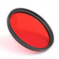 Цветной фильтр 49 мм красный.