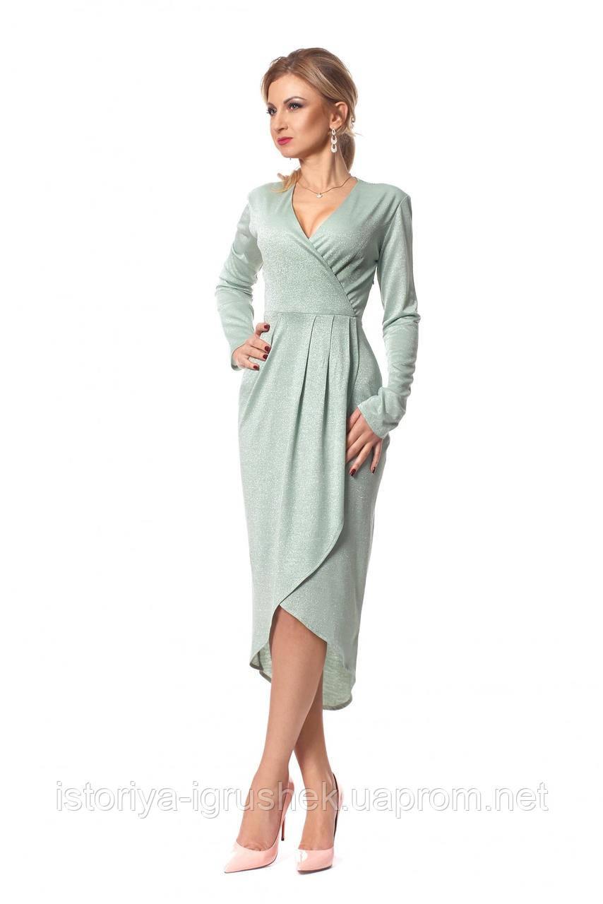 Шикарное платье длины миди цвета в ассортименте