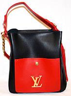 """Сумка женская, стильная """"Louis Vuitton"""", Луи Витон, с косметичкой, 2 в 1, 00136"""