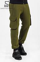 Теплые спортивные карго штаны - Savea, хаки