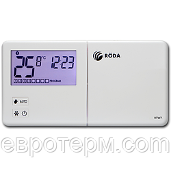 Термостат программируемый Roda RTW7 проводной недельный