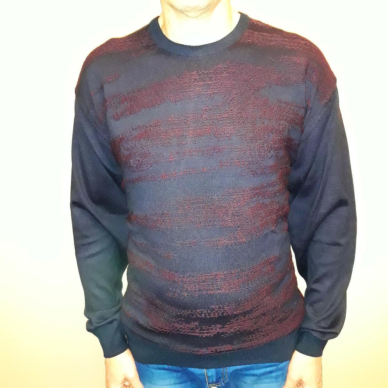 свитер мужской большой синий Tony Montana (Турция)
