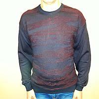 Джемпер мужской с бордовым узором большого размера