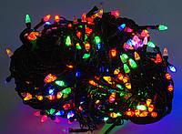 Новогодняя гирлянда ЕЛОЧКА ,200 светодиодных лампочек , разноцветная