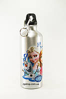 Алюминиевая бутылка с героями мультфильмов с карабином