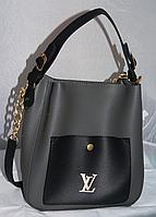 """Сумка женская, стильная """"Louis Vuitton"""", Луи Витон, с косметичкой, 2 в 1, 00135"""