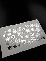Фольгированный слайдер дизайн снежинки серебро