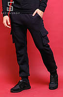 Теплые спортивные карго штаны - Savea, чёрные