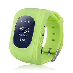 Детские смарт-часы / Smart Watch /  Q50 green / ОРИГИНАЛ / GPS-трекер / детские умные часы / светло-зелёные