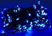 Новогодняя гирлянда ЕЛОЧКА ,100 светодиодных лампочек , синяя