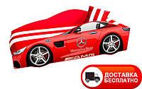 """Кровать машина серия """"Элит"""" модель Mercedes красная со спортивным матрасом, бесплатная доставка в Ваш город"""
