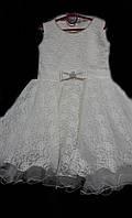 Нарядное кружевное бальное платье на девочку принцессу