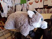 Собака Хаски ручная работа мягкая игрушка подушка