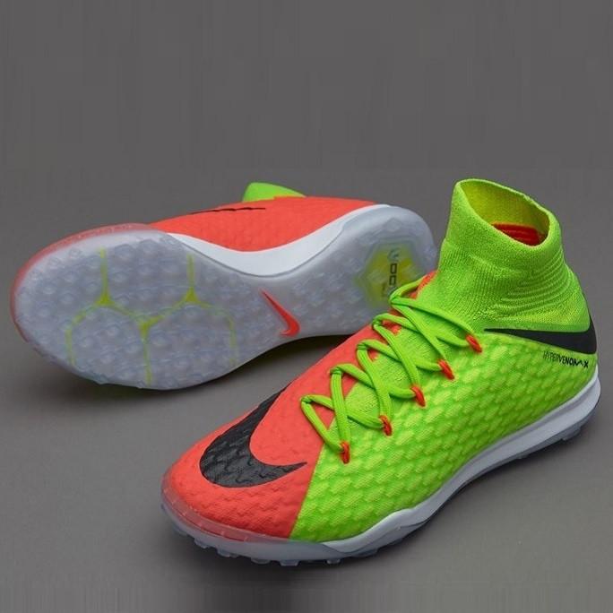Детская футбольная обувь (многошиповки) Nike HypervenomX Proximo II Dynamic Fit Junior TF