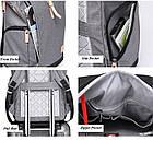 Рюкзак для ноутбука с водоотталкивающим покрытием синий, фото 9