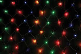 Новогодняя гирлянда - сетка 1,5 м на 1,5 м , 120 лампочек , разноцветная