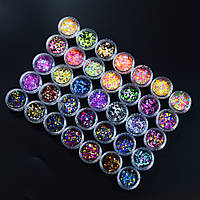 Камифубуки конфетти для дизайна декора ногтей, цвета все в наличии
