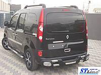 Renault Kangoo (07+) пороги трубы з накладками   d60х2мм
