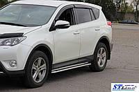 Toyota Rav 4 XA 40 (16+) пороги площадка   d60х2мм