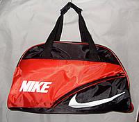 Женская спортивная сумка 013073 черная с красным копия