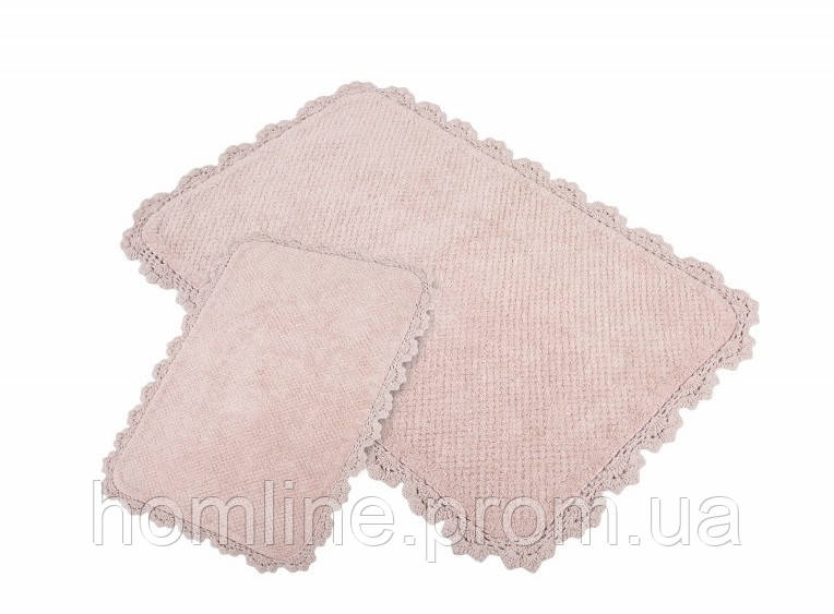 Набор ковриков для ванной Irya Serra 60*90+40*60 розовый