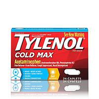 Средство от простуды и гриппа Tylenol Cold Max Daytime Caplets, 24 таблетки