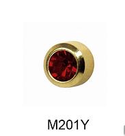 Завальцованные (гранат) 2мм M201Y