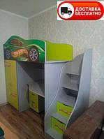 Детская кровать-чердак Bed-Room Hot Wheels, серия Бренд 1700*800, бесплатная доставка в Ваш город