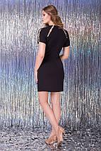 Женское черное платье с жемчугом на плечах (Тати lzn), фото 2