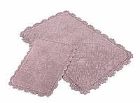 Набор ковриков для ванной Irya Serra 60*90+40*60 лиловый